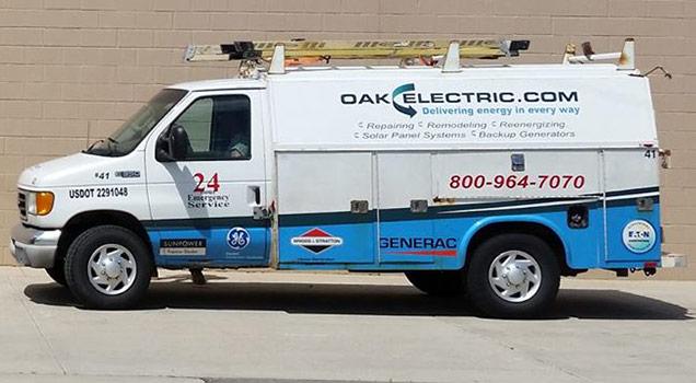 Electrical Contractor Oak Electric Solar Generators